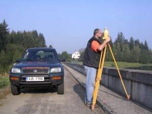 Geodezie Štekl - práce v terénu